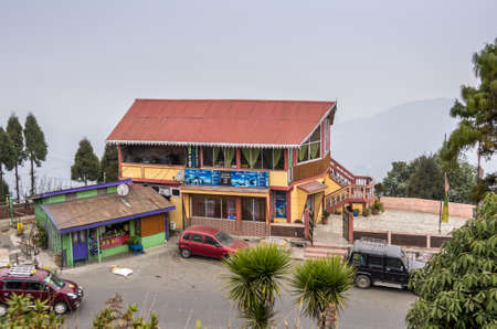 west bengal: Ghoom, Darjeeling province - January 8, 2014    A restaurant in Ghoom  Ghoom is a small hilly locality in the Darjeeling Himalayan hill region of West Bengal in India  It has the highest railway station in India
