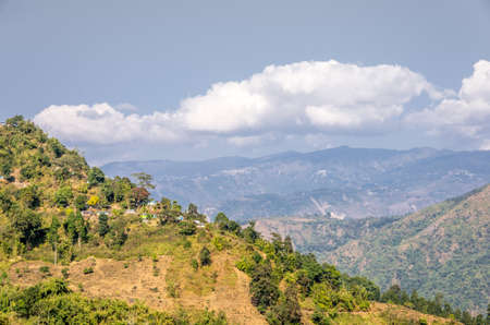 west bengal: View of the Himalayan range of mountains on the way to Mirik, West Bengal