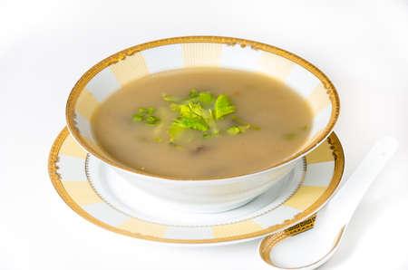 shitake: Vegan nutritious barley shitake soup
