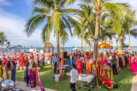 Hua Hin, Thailand - July 1st, 2014   A Indian wedding in progress at Sheraton Hua Hin Resort   Spa in Hua Hin, Thailand Editorial