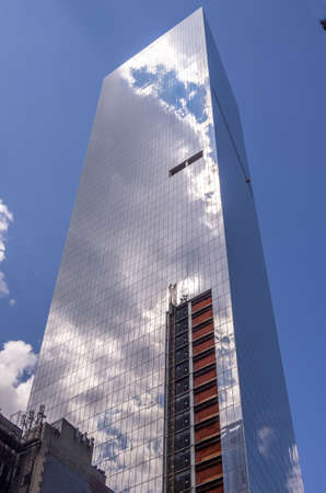 New York, NY - August 9th, 2014 : The new Iconic World Trade Center in Lower Manhattan, New york USA Redakční