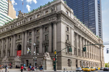 alexander hamilton: New York, NY - August 9th, 2014 : The National Museum of the American Indian�New York, is located within the historic Alexander Hamilton U.S. Custom House. The museum�s permanent and temporary exhibitions, as well as a range of public programs, including