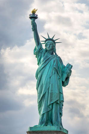 The Iconic symbol of America, The Statue of Liberty in New York, USA. Stock Photo