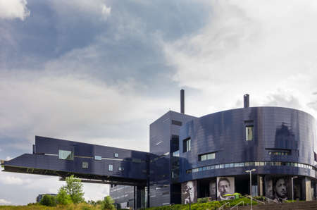 Minneapolis, Minnesota - August 21, 2014: The Guthrie Theater, founded in 1963, is a center for theater performance, production, education, and professional training in Minneapolis, Minnesota, USA