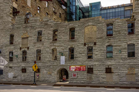 Minneapolis, Minnesota - August 21, 2014: The Mill City Museum is built into the ruins of what was once the world's largest flour mill. It is located on the historic Mississippi Riverfront in Minneapolis, MN, USA