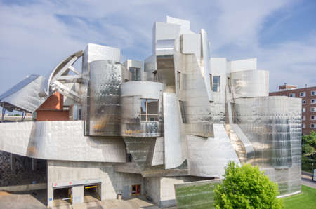 Minneapolis, Minnesota - August 20, 2014: The Frederick R. Weisman Art Museum on the East Bank campus portion of  the University of Minnesota, Twin Cities.  It is the oldest and largest campus within the University of Minnesota system. Editorial