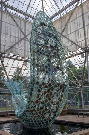Minneapolis, Minnesota - August 20, 2014:  The Standing Glass Fish by Frank Ghery at the Minneapolis Sculpture Garden in Minneapolis , Minnesota
