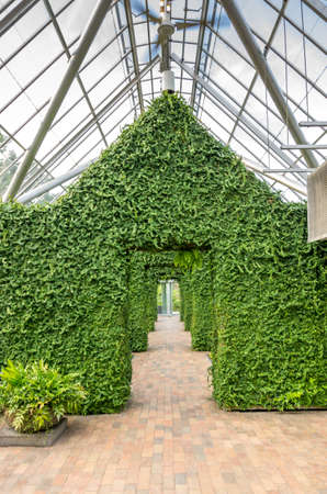 conservatory: Minneapolis, Minnesota - August 20, 2014:  The Cowles Conservatory at the Minneapolis Sculpture Garden in Minneapolis , Minnesota