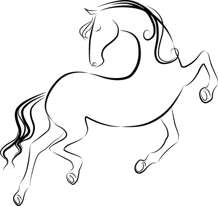 dancing horse Stock Vector - 15951660