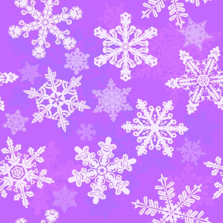 Purple snowflakes seamless pattern Stock Vector - 16126011