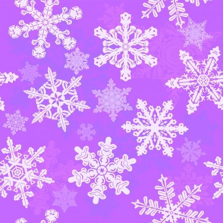 Purple snowflakes seamless pattern Stock Vector - 16126011