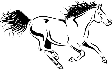 illustration of galloping horse Vector