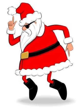 Boogie Santa  Stock Illustratie