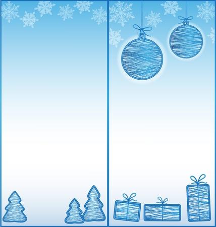 Half-fold  two-fold  brochure with Christmas design Stock Illustratie