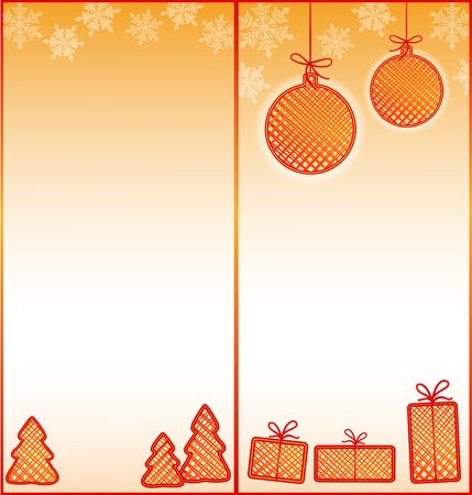 Half-fold  two-fold  brochure with Christmas design Illustration