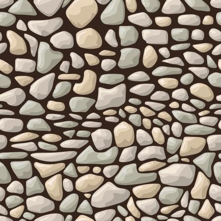 illustration of seamless stone pattern