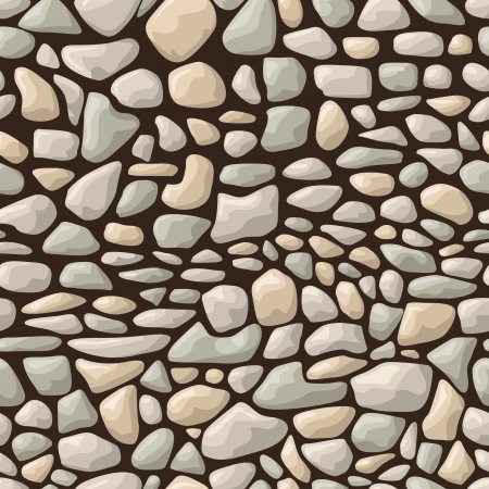 paving stone: illustration of seamless stone pattern