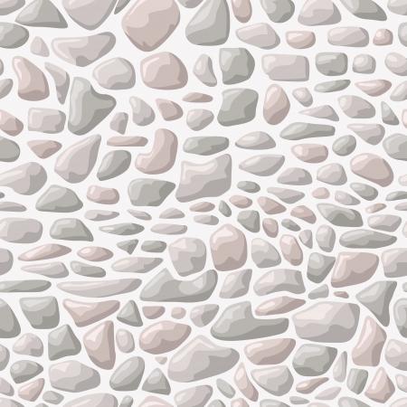 illustration of light seamless stone pattern Illustration