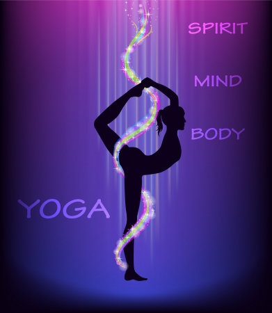 Yoga bailarín s pose Natarajasana Foto de archivo - 16815605