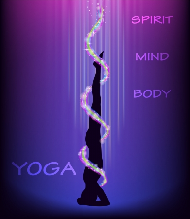 Silhouette of a man doing yoga headstand  salamba shirshasana