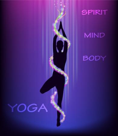 vriksasana: Silhouette of a man doing yoga tree pose  vriksasana