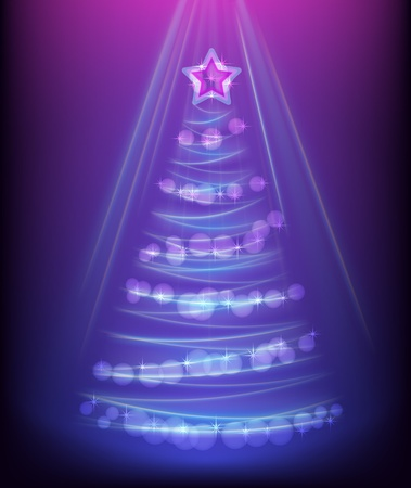 Abstract glowing christmas tree Stock Vector - 16898207