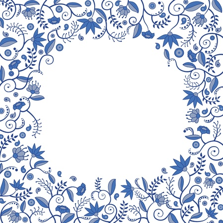Floral border pattern  イラスト・ベクター素材