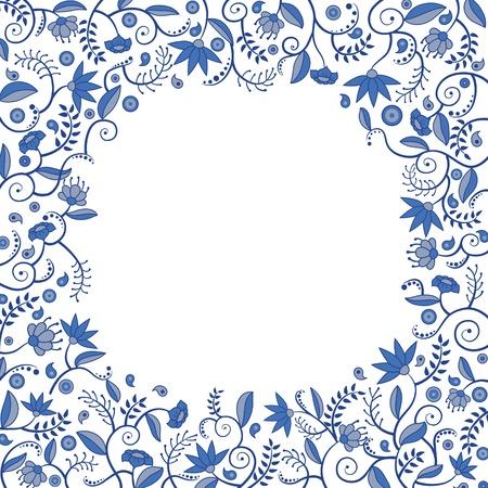 Floral border pattern Stock Illustratie