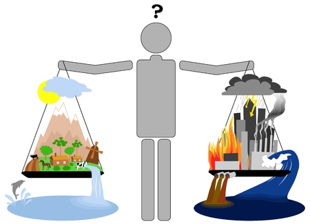 saubere luft: Eco Lifestyle vs urbanen Lifestyle