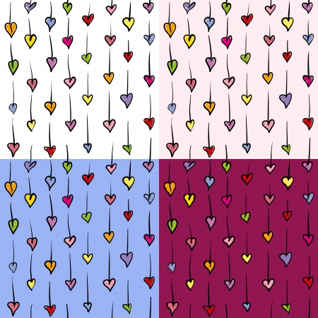 Small hearts seamless pattern Vector