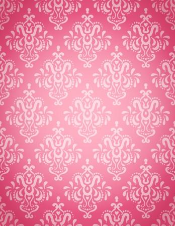Seamless wallpaper pattern on a light pink background  Stock Illustratie
