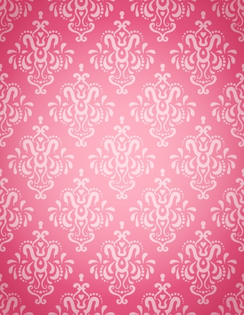 Seamless wallpaper pattern on a light pink background  Vectores