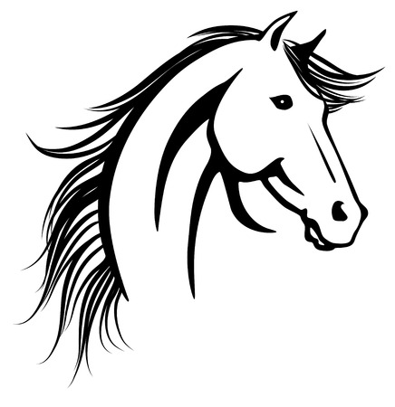Stylized vector illustration of elegant horse