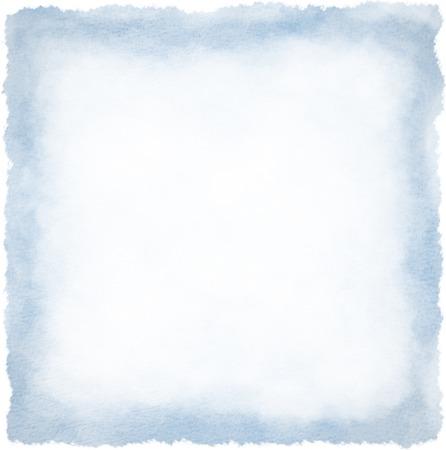 Textured square watercolour frame background blue colour Banque d'images