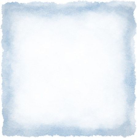 Textured square watercolour frame background blue colour Stock Photo