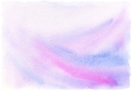 수채화 질감 된 배경 - 핑크와 블루 색상