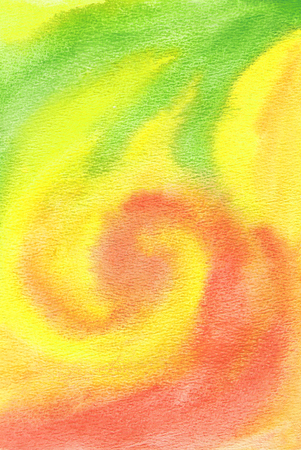 Watercolor textured background in bright colours. photo
