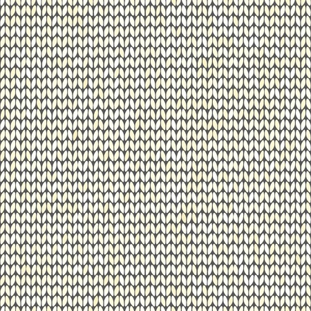Light decorative knitted seamless textile pattern vecctor Illustration