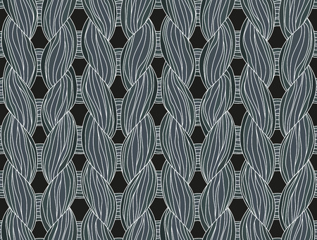 Closeup of a seamless knitted pattern dark colours.