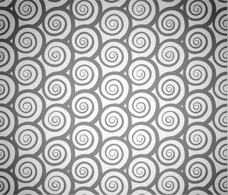 grey pattern: Spiral waves seamless pattern grey on white