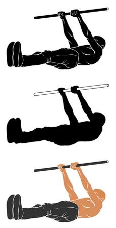 Vektor-Illustration der Mann Durchführung Front Lever