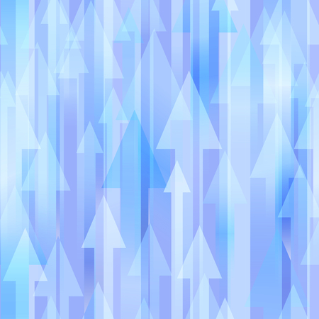 blue arrow: Blue seamless vector background with many different sized arrows