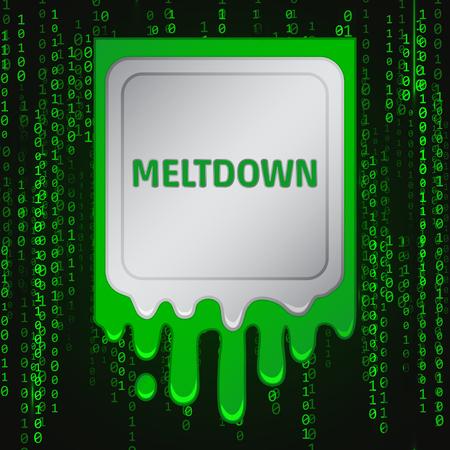Meltdown vulnerability concept on a binary code background. Foto de archivo - 92947701