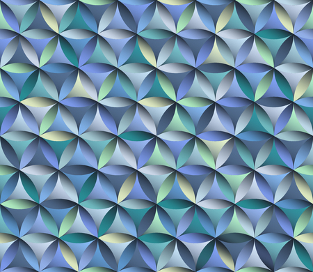Flower of life seamless pattern in blue colours Illustration