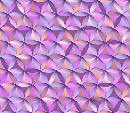 Flower of life seamless pattern in pink and purple colours Ilustração