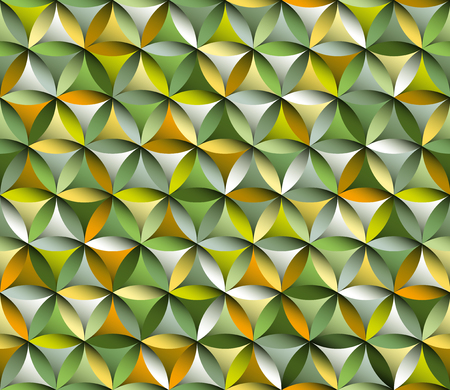 Flower of life seamless pattern with autumn colours Ilustração