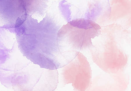 Watercolor textured purple pink background 免版税图像