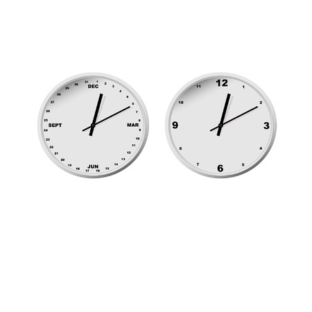 original clocks show minutes hours months. Good for business, teaching childrens, time management