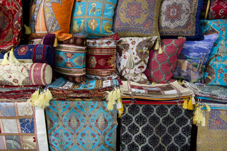 oriental rug: Pillow cases for sale. Pillow cases for sale in the Istanbul Grand Bazaar