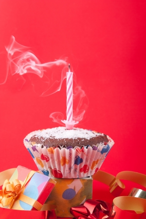 blowing out: Blowing out birthday candle